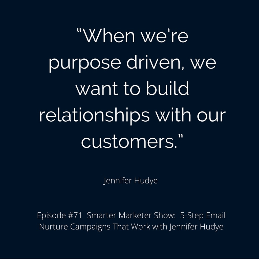 SMP 0071: 5-Step Email Nurture Campaigns That Work with Jennifer Hudye