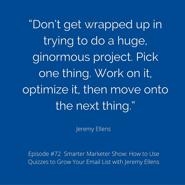 SMP 0072: How to Use Quizzes to Grow Your Email List with Jeremy Ellens