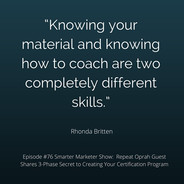 SMP 0076: Repeat Oprah Guest Shares 3-Phase Secret to Creating Your Certification Program