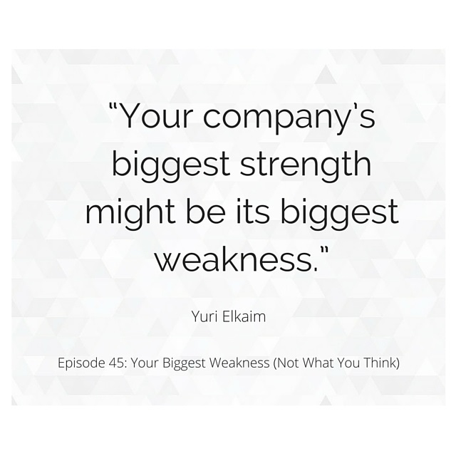 SMP 0045: Your Biggest Weakness (Not What You Think)